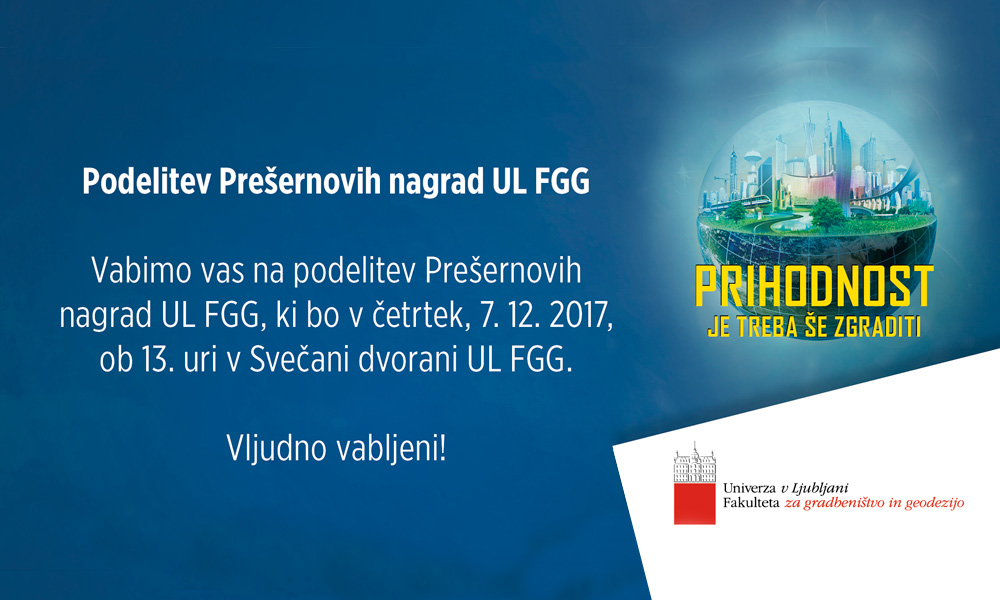 Podelitev Prešernovih nagrad na UL FGG