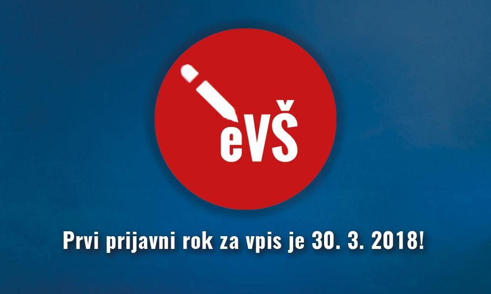 Prvi prijavni rok za vpis v prvi letnik prvostopenjskih š. p. se zaključi 30. 3. 2018