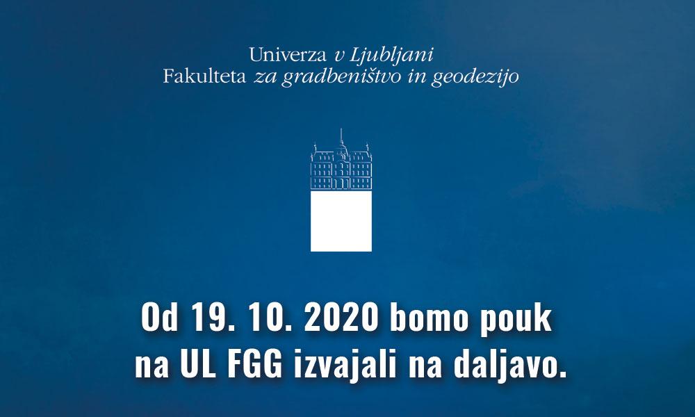 Izvajanje študijskega procesa na UL FGG do 27. 11. 2020