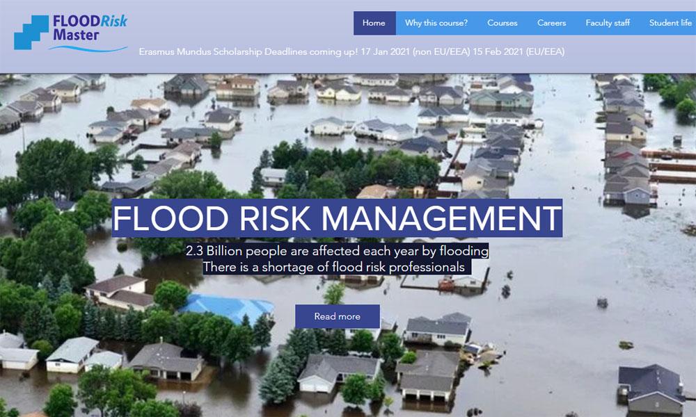 Študij in štipendije na Erasmus Mundus magistrskem študijskem programu Flood Risk Management