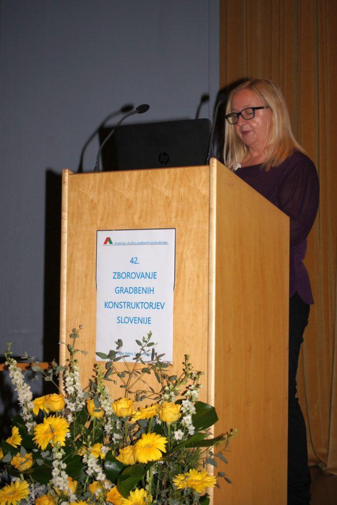 Nagovor dekanje UL FGG prof. dr. Violete Bokan Bosiljkov.
